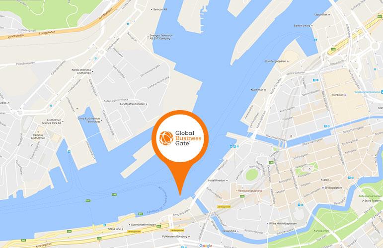 karta över var global business gate kommer att ligga